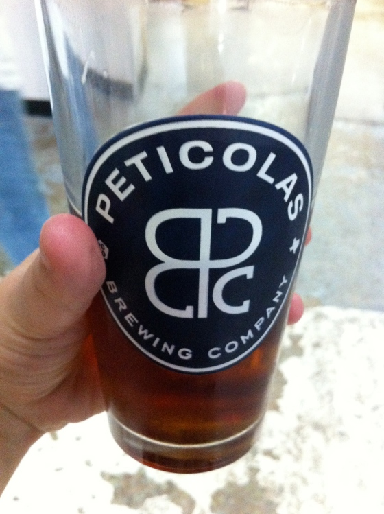 Free Peticolas Pint glass